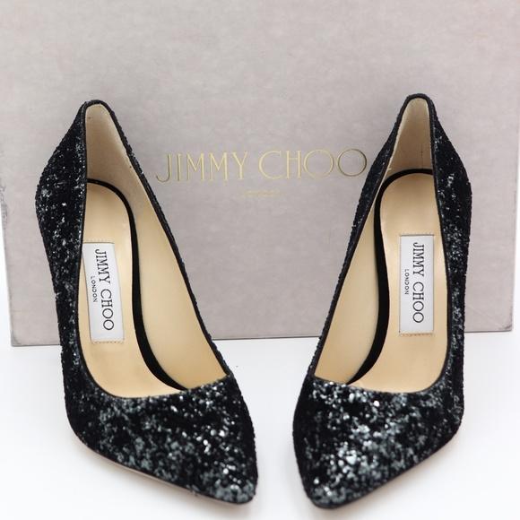 bf4a241d2b Jimmy Choo Shoes | Nib Romy 100 Glitter Pump Heels | Poshmark